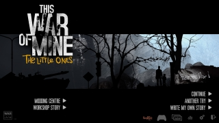On the title screen, players can create mods or custom games, or hop straight into the game.