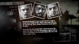 Each scenario includes an interesting backstory about its main characters.