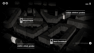 Players use a bird's-eye view of the neighborhood to choose who to talk to.