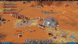 Eventually, the main goal is to build a biodome to support colonists!