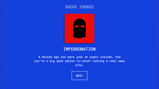 The game focuses on six aspects of disinformation, learning about each comes with a badge.