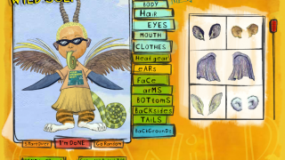 Users can mix and match animal adaptations.