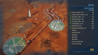 Players can focus on meeting certain milestones while playing, and like Civilization, Surviving Mars displays a score that depends on how fast players meet milestones.