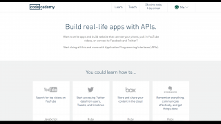 The main API page provides an overview