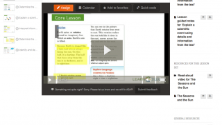 Lessons include texts, graphic organizers, and videos that walk users through a skill.