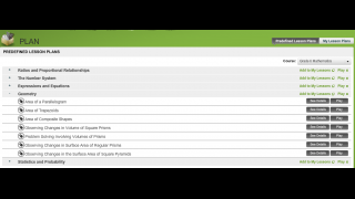 Teachers can create custom lesson plans or use the predefined lessons.