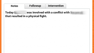 The commenting feature makes it easy to track behavior and classroom observations.