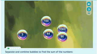 Bubble Action helps students build addition skills.