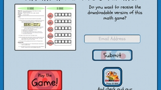 Users can submit an email address to receive a downloadable version of the game.