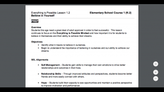 Lesson plans are easy to print.