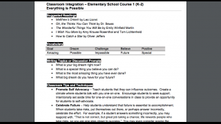 In addition to lesson plans, supplementary integration plans offer ways to expand learning throughout the year.