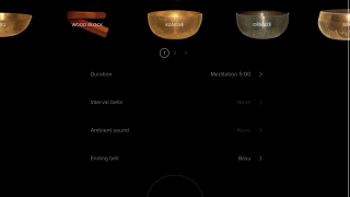Practice nonguided meditation with a timer and a selection of bells to suit your taste.