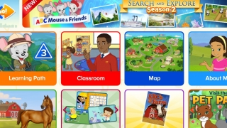 Kids begin their ABCmouse.com experience on an individualized page.