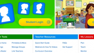 Search for and browse activities, watch how-to videos, read about the curriculum, or view kids' accomplishments in the teacher's section.