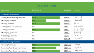 Dig down into data with the Basic Skill Report.