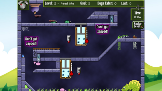 """""""Bugs on the Run,"""" geared toward late elementary/MS, is the only online game."""