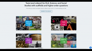 There's a vast library of content available in ELA, science, and social studies, plus brief articles on news and current events.