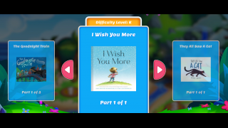 Students can choose stories from PreK to 6th grade difficulty.