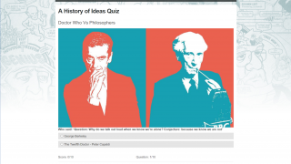 """One quiz challenges students to guess whether a quote is from """"Doctor Who"""" or a philosopher."""