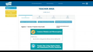The teacher area contains resources, a discussion Wall, detailed reports, and an assessment tool.