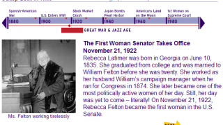 Jump Back in Time to the Jazz Age and find out about the first female senator!