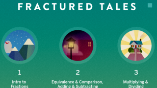 Choose from three different units on fractions.