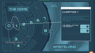 The program is presented as a sci-fi graphic novel with eight chapters.
