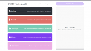It's not just an app: Create and edit your podcast on the Anchor website, which is great for schools with laptops.