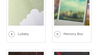 Choose from a library of preset styles and songs for your slideshow.