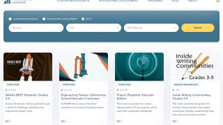 Search by subject and grade level to find classroom or professional development resources.