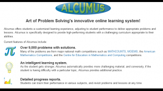 Alcumus is a free, adaptive online learning system.