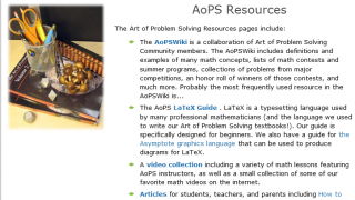 Resources include a wiki, forums, and a guide to LaTeX.