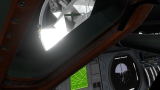 Apollo 11 VR has optional interactive components, such as this docking experience.