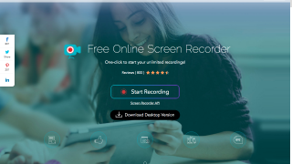 Users can choose the online screen recorder or download the desktop version.