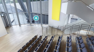A 360-degree virtual tour highlights and explains particularly interesting engineering or architectural features.