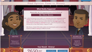 When the game is finished, you find out the history behind the case.