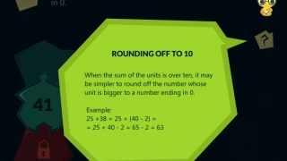 Lessons teach kids strategies like rounding to 10.