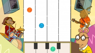Play increasingly complicated melodies by tapping keys when musical notes fall over them.