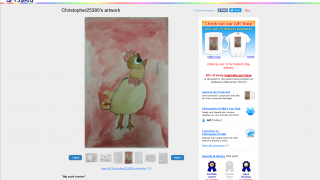 Users of the site can see other kids' artwork also, and can order keepsakes with the art on it.