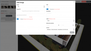 Add your artifacts along with any text, audio, license information, and more.