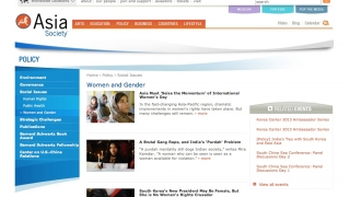 The tabbed site sections feature articles on subject areas like Women and Gender.