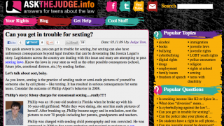Hot-button topics get an airing-out on AsktheJudge.info.