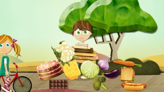 """In this game, kids sort vegetables into a box to find the """"v."""""""