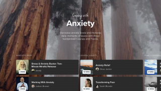 Browse guided meditations tailored to different feelings, needs, or emotional states.