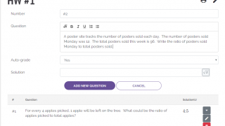 Create questions using any alphanumeric characters, and then tailor the prompt with the options.