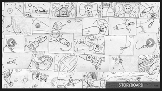 Kids can explore sketches of the app as a work in progress.