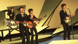 Strong visuals recreate iconic Beatles performances.