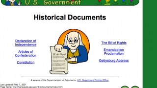 Kids can learn about a variety of historical items, including key documents like the Constitution and the Gettysburg Address.
