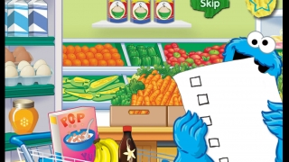 Build a word list by choosing the food item that matches Big Bird's hints.