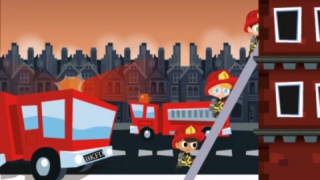 Scenes like this one appear between levels of gameplay.